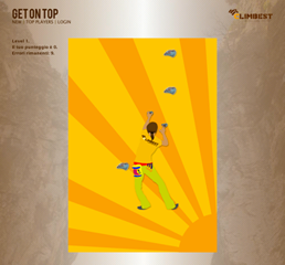Get on Top, screenshot of the climbing web-game